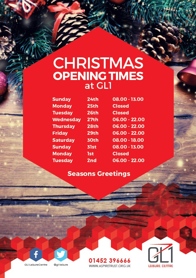 Click here to download the GL1 Christmas opening times